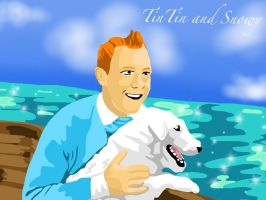 TinTin and Snowy by CutePirateBabe