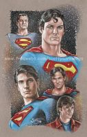 Supermen Drawing by scotty309