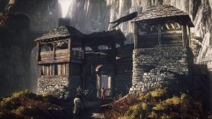 The Witcher 3 Wild Hunt Geralt stops at an outpost by Scratcherpen