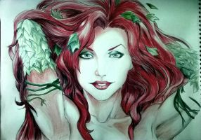 Poison Ivy - color pencils by Azitie