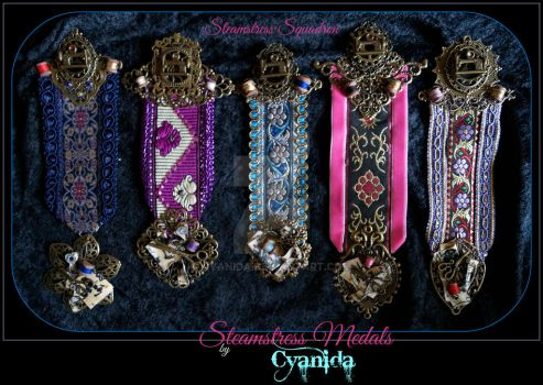 Steamstress Medals All in one go by Cyanida