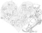 Kingdom Hearts Tribute Sketch by Mirrade