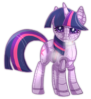 Twilight Sparkle Robot by xxMoonwish