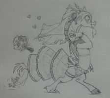 Discord with Wedding Dress by FlowersIMH
