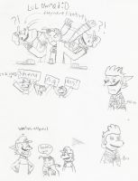 shenanigans sketches 2 by Anna-aurion