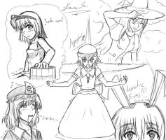 Touhou Drawing by Artman-eyt