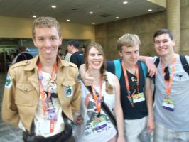 Me and KP and her Friends at BronyCon 2016 by XaldinWolfgang