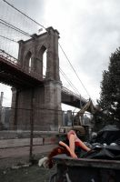 brooklyn bridge babe by inkoginko