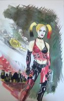 Harley Quinn Watercolor by WEDMER