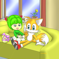 Tails and Cosmo - happy valentines day by NomadNoita