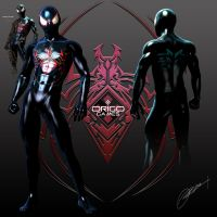 Scarlet Spider Concept sheet by ORiGO-GAMES