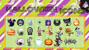 Icons - Pngs Halloween by Waatt