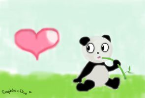 Bamboo~Panda by SaphirexBlue
