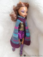 Hand knit Multi-color set for Monster high by kivrin82