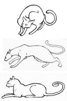 Cat Sketches by clearwater-art