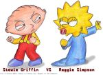Stewie VS Maggie by Jauda