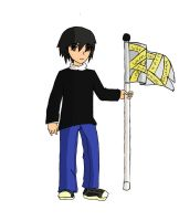Me doing colourguard by LigerStorm