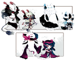 [OPEN + EXTRA] ADOPT AUCTION 160 - Shadowmonsters by Piffi-adoptables