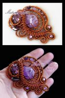 Misty Mountain brooch by Faeriedivine