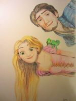 RapunzelandFlynn (Tangled) by dasimartinez