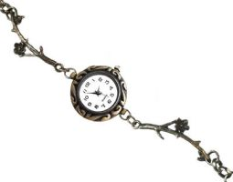 Vintage-style Antique Bronze Bracelet Watch by crystaland