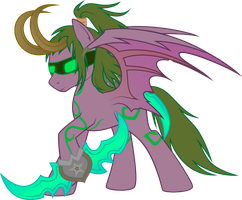 Illidan: Pony version by Rusilis