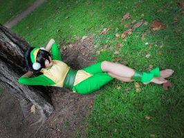 Toph chilling time :P by meliwawa