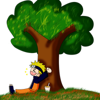 Under the tree, with noodles by PichLechuga