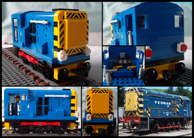 Lego British Rail Class 08 Shunter by Kumata