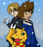 Digimon: Snowing by Shigerugal