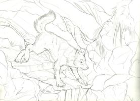 Commish WIP- Descending Whimsical by Earthsong9405