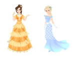 Lettice and Eveline Round No. 1 Fragile Elegance by musicmermaid