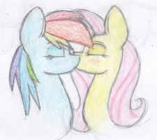 FlutterDash kiss by LovableRobot