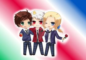 APH - Chibi Bad Friends by NightmareTease