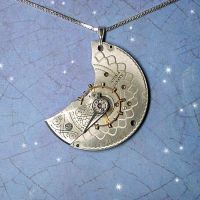 Large Steampunk Crescent by Gweyeni
