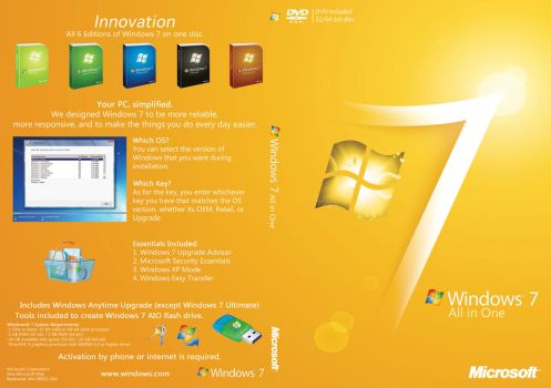COVER DVD WINDOWS 7 ALL VERSIONS by wilson646