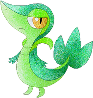 Jungle Green Snivy by RougeSulfura