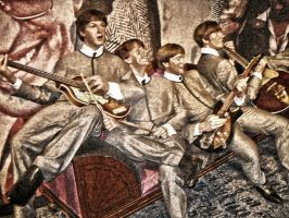 Beatles On Couch by billyvector