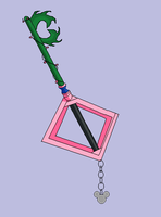 The Roseblade Keyblade by snowcloud8