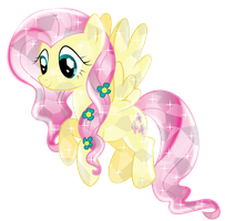 Fluttershy Crystal (Version 2) by InfiniteWarlock