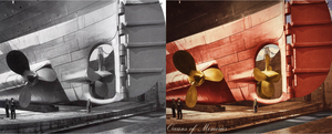 Gloriously Gigantic - Before/After by RMS-OLYMPIC