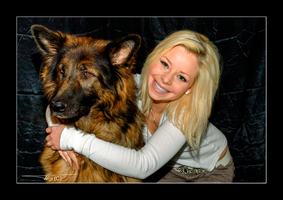 Blonde Model And Elvis by OrisTheDog