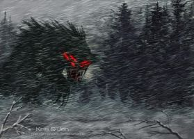 In the blizzard. by jen-and-kris