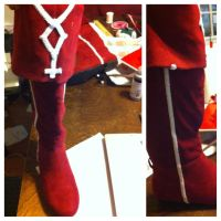 Kyoko's boots WIP by itbeMacKenzie