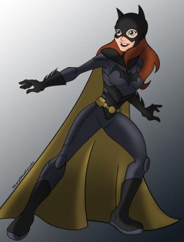 Batgirl (Colored) by SharpBluePencils