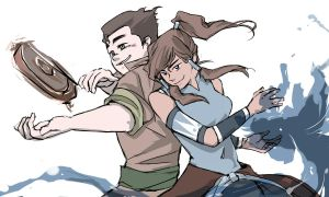 Korra and Bolin by telos0