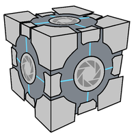 Aperture Science Weighted Storage Cube (Portal) by Pseudospeed