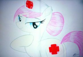 Nurse Redheart by BluDraconoid