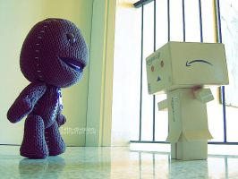 Danbo meets Sackboy by 14th-division