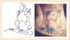 Samoyed tattoo by JessicaDunn
